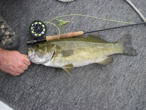 "21"" Bass on East Twin Lake"