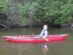 Rachel on the Au Sable